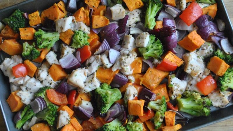 chicken sweet potato vegetable bake recipe - 1