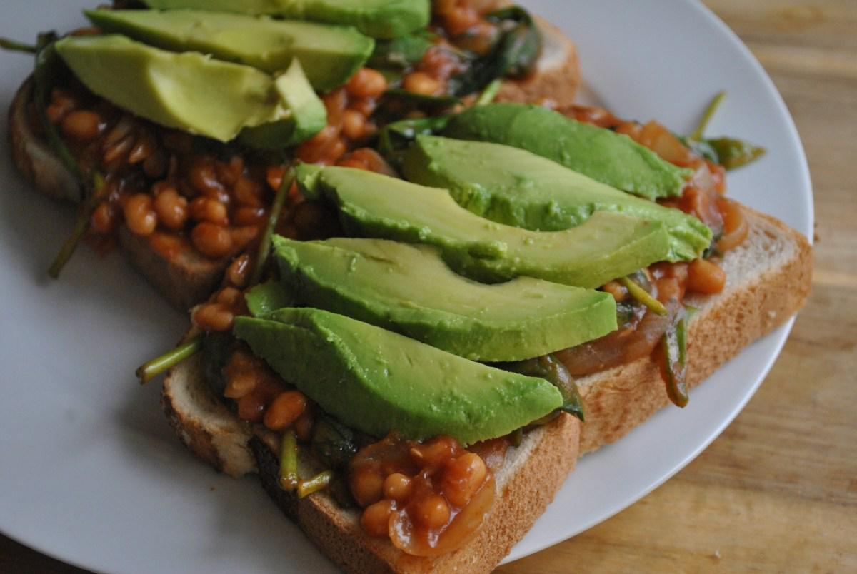 veggie bbq beans on toast recipe - 4