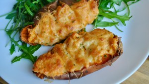 Loaded Bacon & Cheese Sweet Potatoes Recipe - 2