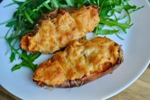 Loaded Bacon & Cheese Sweet Potatoes Recipe - 2