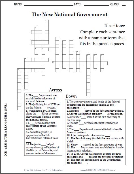 Cabinet Department Crossword | memsaheb.net