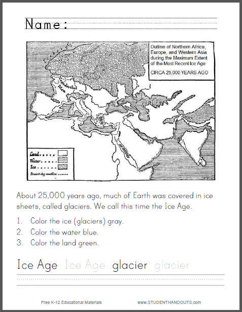 About 25 000 Years Ago Much Of Earth Was Covered In Ice