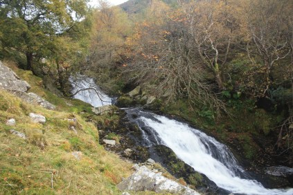 The top of the Aber Falls