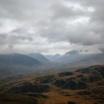 The Ogwen Valley under heavy cloud