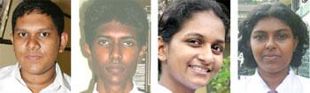 Charith, Irosha, Tharani and Nadeesha