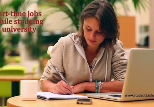part time jobs while study student stock photo