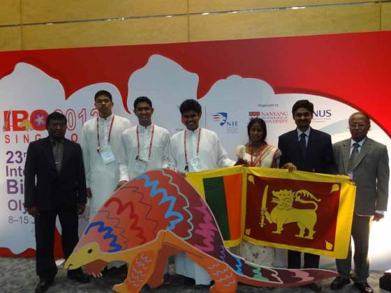 IBO 2012 Team Sri Lanka after opening ceremony