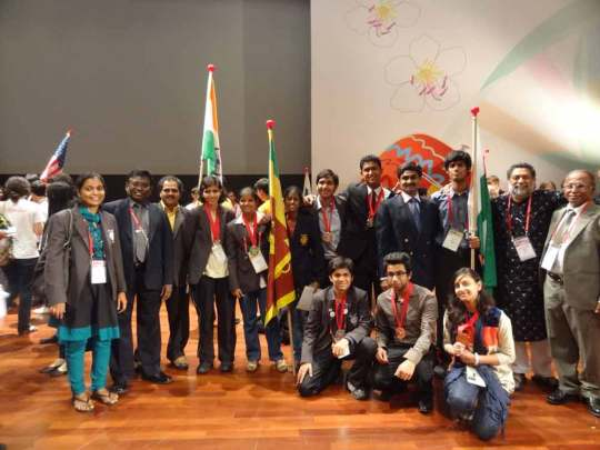 IBO 2012 - Sri Lankan Team with Indian and Pakistan teams
