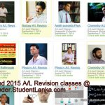 2015 A/L Revision Tuition Classes and Teachers