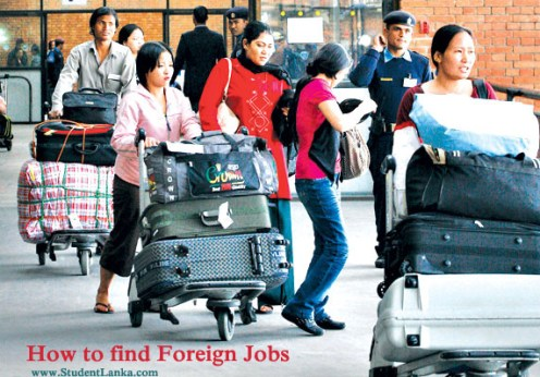 Foreign Jobs for Sri Lankans