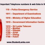 telephone numbers sri lanka