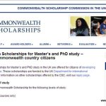Commonwealth Scholarships for Master's and PhD study for Sri Lankans