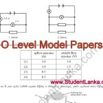 Download Model Papers for O/Level examination 2016 – science maths sinhala