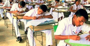 sri lanka students doing exam AL