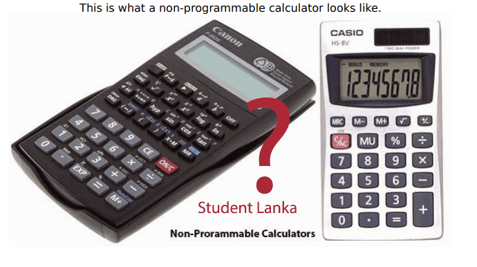 non programmable calculator