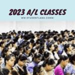2023 A/L classes