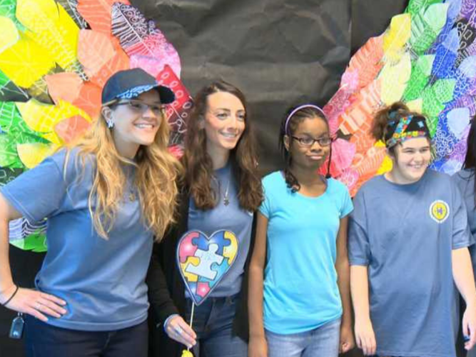 Students Embrace Autism Awareness Day