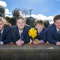 Marist Regional College Students Create Daffodil Day Flower Stalls