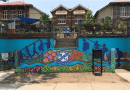 Student's Farewell School with a New Mural