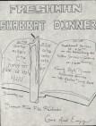 Jewish Students Association Poster for Shabbat Dinner