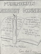 Jewish Students Association Poster for Shabbat Dinner