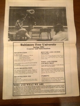 The Baltimore Free University Course Catalogue