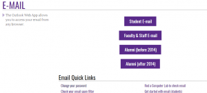 ecu student email sign in page