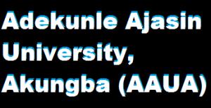 Adekunle Ajasin University (AAUA) admission list status portal