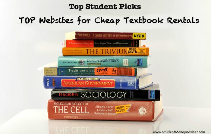 top websites for cheap textbook rentals student money adviser