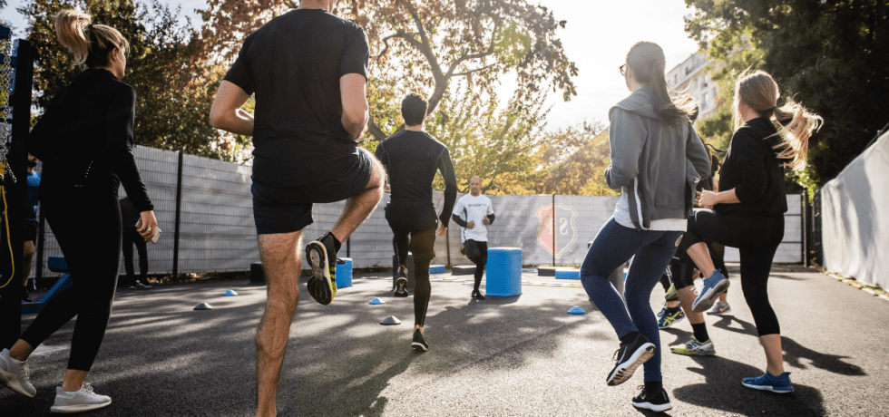 Image of people in an exercise class