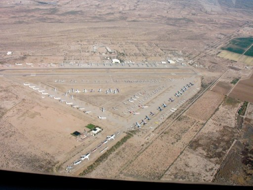 Pinal County Airport, where many airplanes get parked for extended periods.