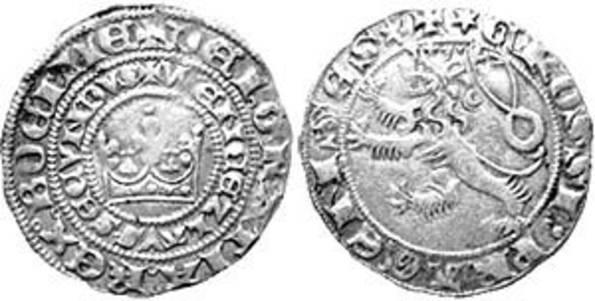 Вацлав II, король чешский и польский, в 1300 году начал чекан новой монеты
