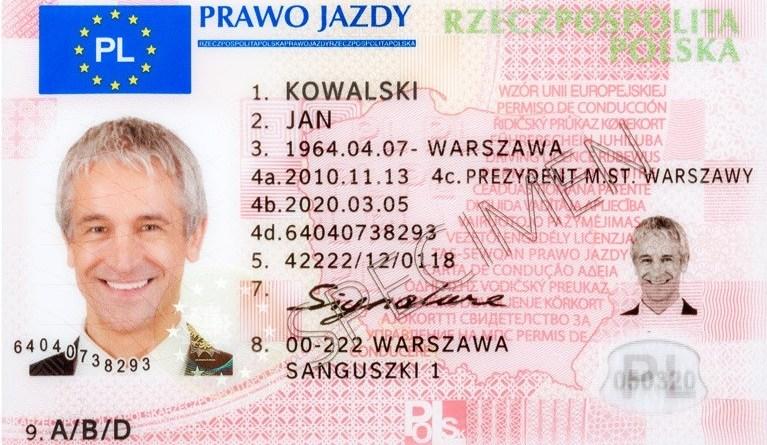 prawo jazdy, водительские права в Польше