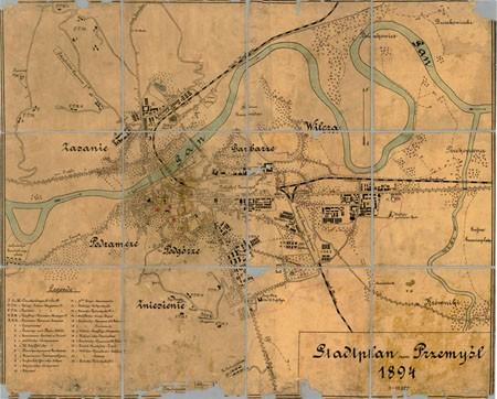 Цифровой план Перемышля 1894 г. с предместьями и окраинами города