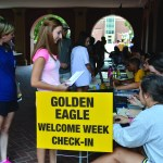 Incoming students sign up for Golden Eagle Welcome Week Friday August 14, 2015