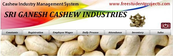 Cashew Industry Management System