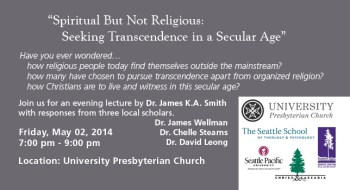University Presbyterian Dr. Smith Lecture Discussion ad