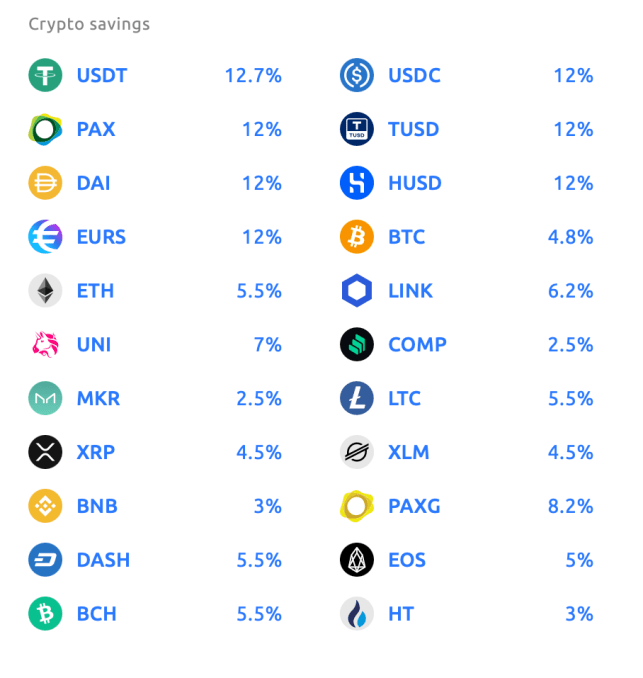 Coins on Youhodler