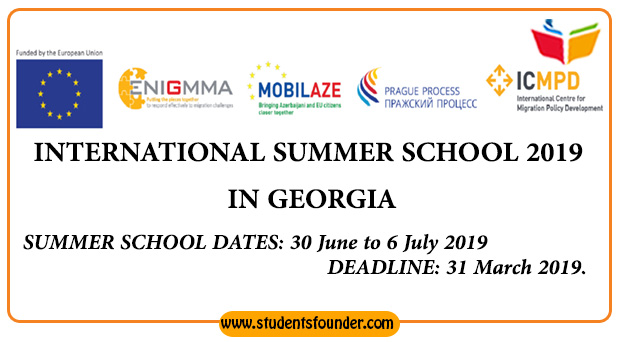INTERNATIONAL SUMMER SCHOOL 2019 [FULLY FUNDED] IN GEORGIA