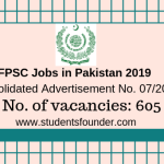 FPSC Jobs in Pakistan 2019