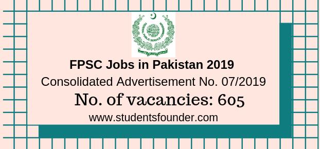 FPSC Jobs in Pakistan 2019