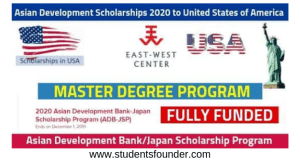 Asian Development Scholarships 2020 in USA