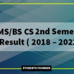 BScs 2nd Semester Result ( 2018 – 2022)