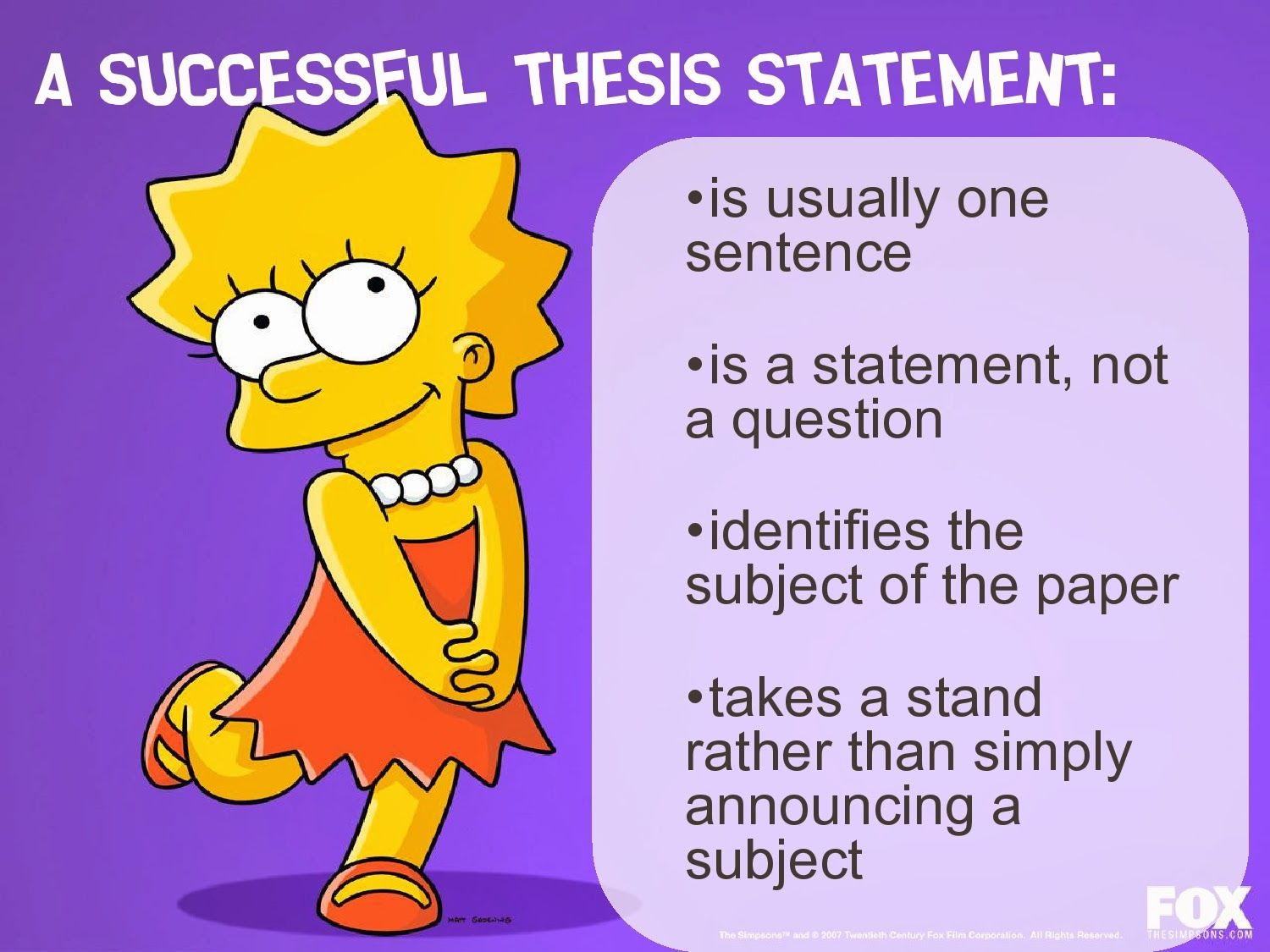 Get Examples Of Good Thesis Statements