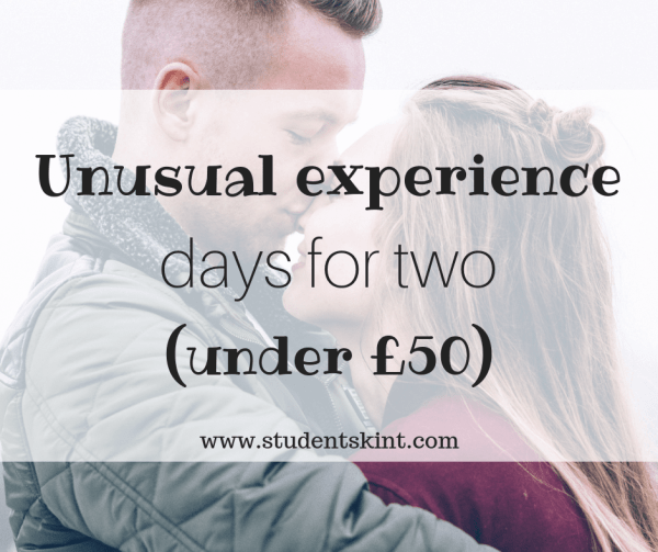 Unusual experience days for two