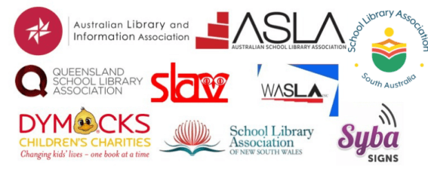 Logos of state library organisations