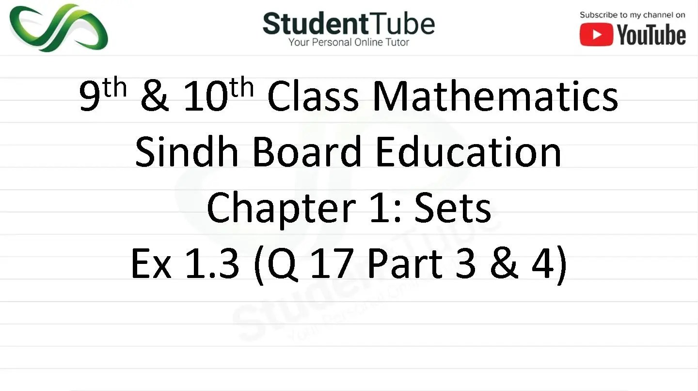 Chapter 1 - Exercise 1.3 Q 17 Part 3 & 4