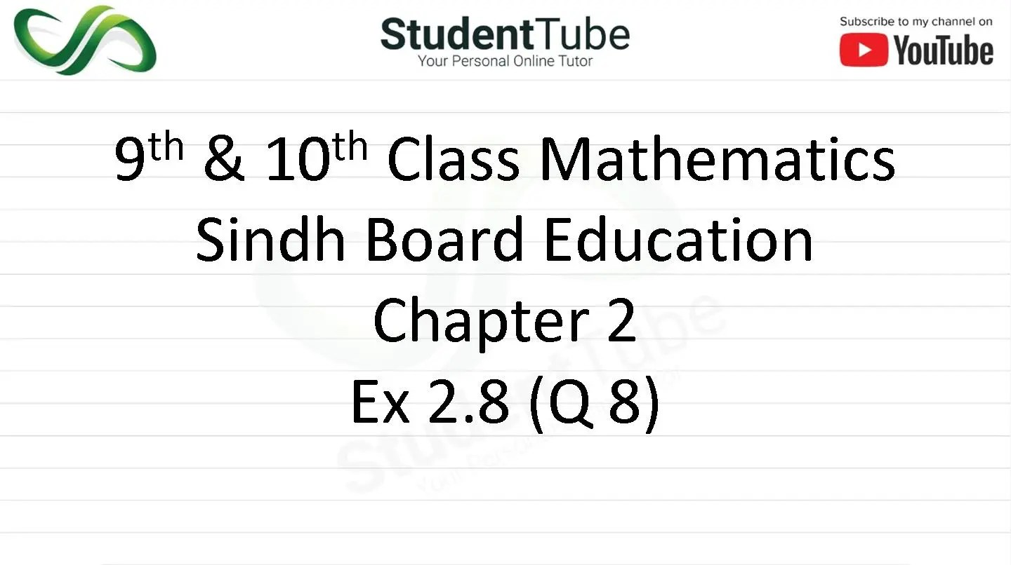 Chapter 2 - Exercise 2.8 Q 8