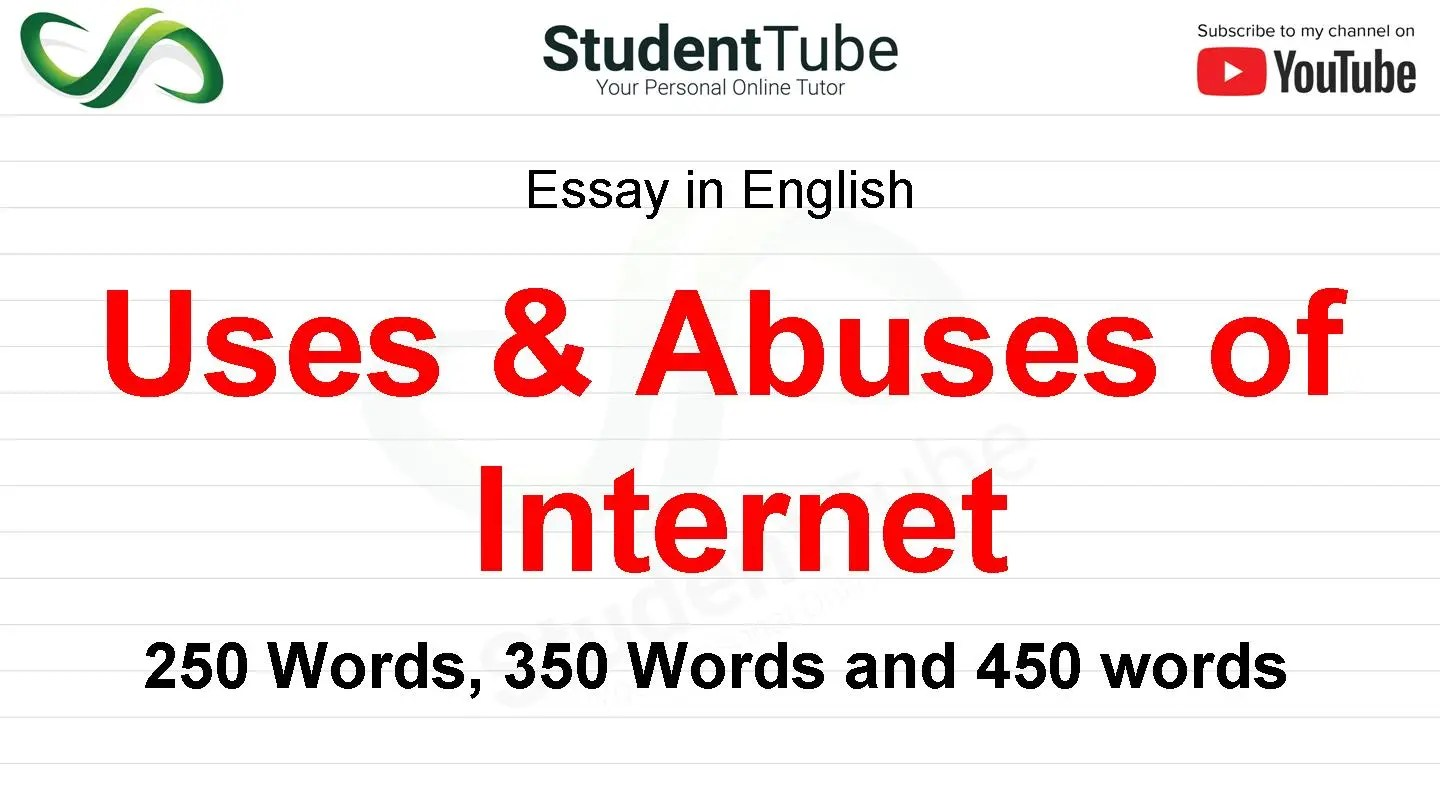 Uses & Abuses of Internet