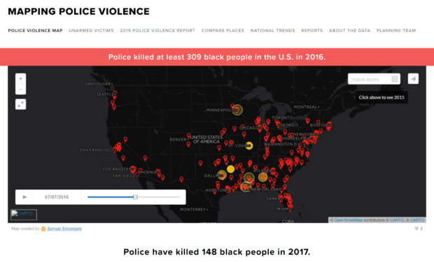 image of mapping police violence visualization